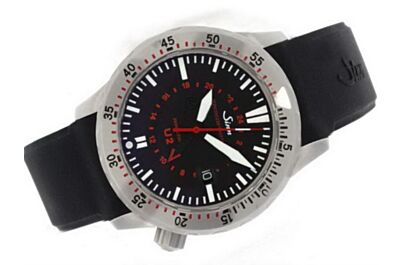 Mens Sinn U2 Divers GMT Ref 1020.010 44mm 24 Hours Date Black Watch Sinn003