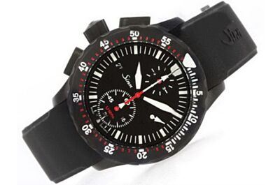 Sinn U1000 EZM 6 Divers Date Swiss Movement All Black Chronograph Watch Sinn005