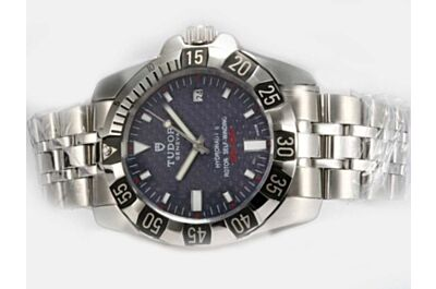 Tudor Hydronaut II Specifications Special Blue Dial Silver Bracelet Fake Watch