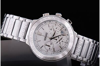 Versace Dv One Chrono 11CC9D009SC09 Ceramica White Gold Bracelet 41mm Watch