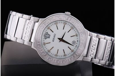 Clone Versace V Sport Ladies MOP P6Q89FD002S099 White Gold Bezel Quartz Date Watch