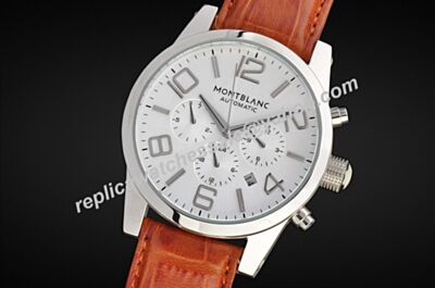 Montblanc U09671 Timewalker Chronograph Automatic Day Date White Gold 24 Hours Watch