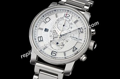 Montblanc TwinFly Ref U0109133 Flyback Chronograph Greytech White Gold 43mm Fake Timewalker Watch