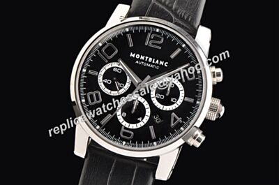 Montblanc Chronograph Timewalker White Gold Date 43mm Swiss Automatic Watch WBL021