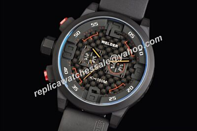 Welder K31-10001 Chrono 24Hour Edition Black  PVD steel 48mm Watch