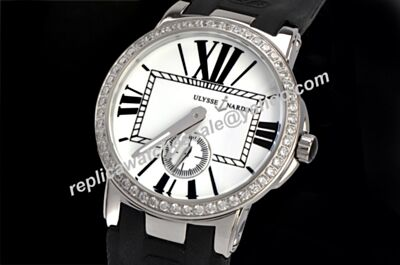 Ulysse Nardin Executive  Ref 243-00B/421 Paved Diamonds Bezel Quartz No Date Watch