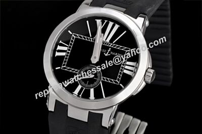 Men's Ulysse Nardin Executive Ref 243-00-3/42 White Gold Black Citizen Watch Clone