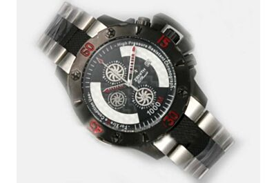 Men's Zenith Defy Xtreme 1000m Chronograph Date 2- Tone Face Black Watch