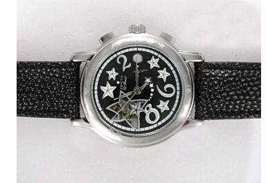 Zenith El Primero 18K White Gold Star Markers Chronograph Watch Replica