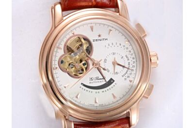 Zenith El Primero Power Reserve Date Auto Rose Gold Watch