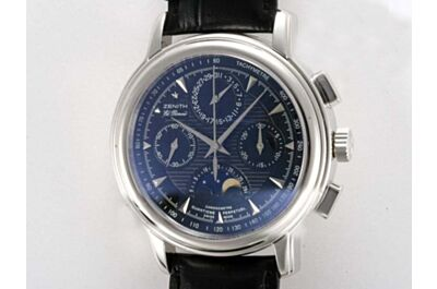 Zenith El Primero Chronomaster Moonphase Power Reserve Swiss Automatic Mne's Watch Rep ZEN026
