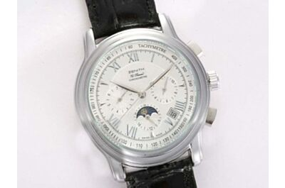 Gents Zenith El Primero Chronomaster Moonphase Ref 18.2180.4003/01.C713 42mm Copy Date Watch